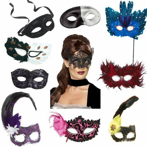 Fancy Dress Party Wear Pack Of 10 Assorted Masquerade Ball Masks