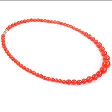 "Malaysian jade gemstone beads necklace 6mm 8mm 10mm 12mm 14mm round stone 18"""
