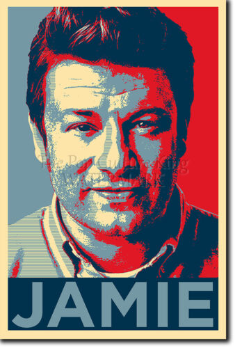 OBAMA HOPE JAMIE OLIVER ART PHOTO PRINT POSTER GIFT COOKING CHEF