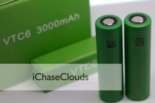6x Sony 18650 VTC6 3000Mah 40A High Drain Battery Rechargeable Flat Top Cell imr