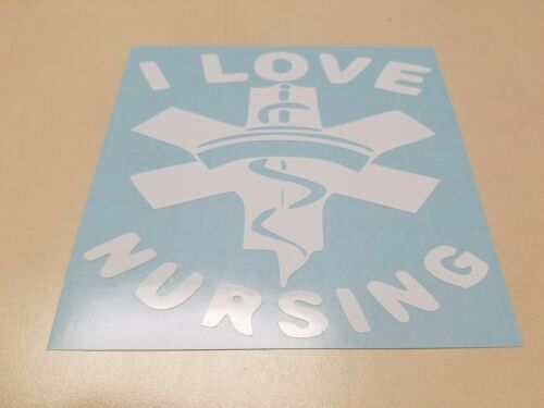 Window Toolbox Stickers #738 I Love Nursing