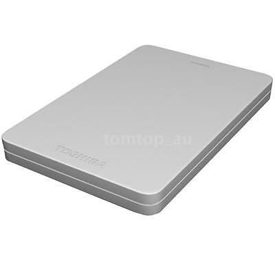 "Toshiba Canvio Alumy USB 3.0 2.5"" 1TB External Hard Disk Drive HDD Silver U7U7"