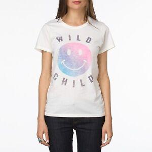 6d3f1f09d3 Vans Girls Womens WILD CHILD TEE T SHIRT CREW Top XL WHITE RAINBOW ...