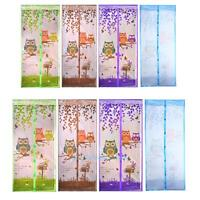 Mesh Door Magic Curtain Magnetic Snap Fly Bug Insect Mosquito Screen Net Guard