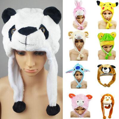 Unisex NEW CUTE BUNNY  Winter Hat Fluffy Plush hat Warm Cap Perfect Gift