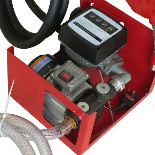 60L//min Dieselpumpe Heizölpumpe Selbstansaugend Zählwerk Tankstelle 230V