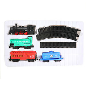 Classic Train Set Toy Tracks Battery Operated Tanker Carriage Engine Light Sound Other Toys & Activities