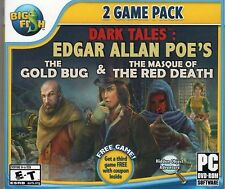 Dark Tales THE MASQUE OF THE RED DEATH + THE GOLD BUG Hidden Object PC Game NEW