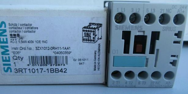 3RT1017-1BB41 3RT1017 1BB41 New in Box Siemens Contactor free shipping