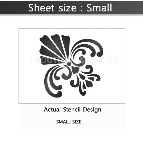 LARGE WALL STENCILS DAMASK STENCIL DIY REUSABLE PATTERN DECOR FAUX MURAL V0001