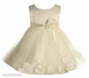 Baby Girls Ivory Cream Christening Wedding Bridesmaid Special