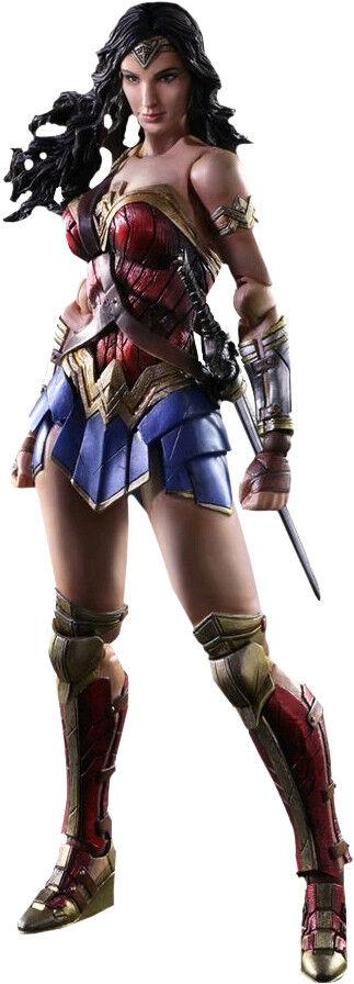 WONDER femme - Wonder femme 9.5   Play Arts Kai Action Figure (Square Enix)  nouveau  autorisation de vente de la marque