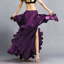 Professional Belly Dance Costume Waves Skirt Dress with slit Skirt 5Colors HOT