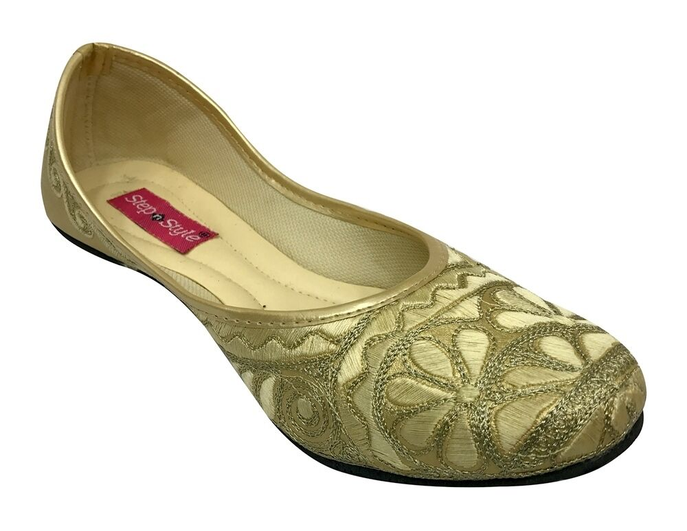 US Punjabi Jutti Flip Flop  Khussa shoes Casual Mojari Salwar Kameez shoes  DD884