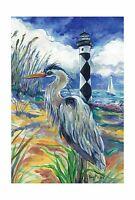 Toland Home Garden Lighthouse Heron 28 X 40-inch Decorative Usa... Free Shipping