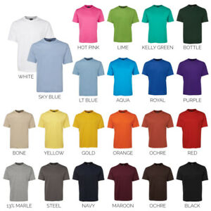 Plain-Blank-Tee-100-Cotton-T-SHIRT-1HT-Mens-Sizes-S-6-7XL