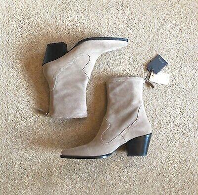 Zara Sand Beige Suede Leather Western