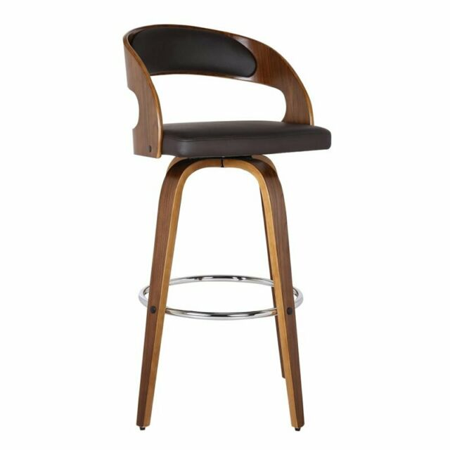Fabulous Armen Living Shelly 30 Faux Leather Bar Stool In Brown Squirreltailoven Fun Painted Chair Ideas Images Squirreltailovenorg