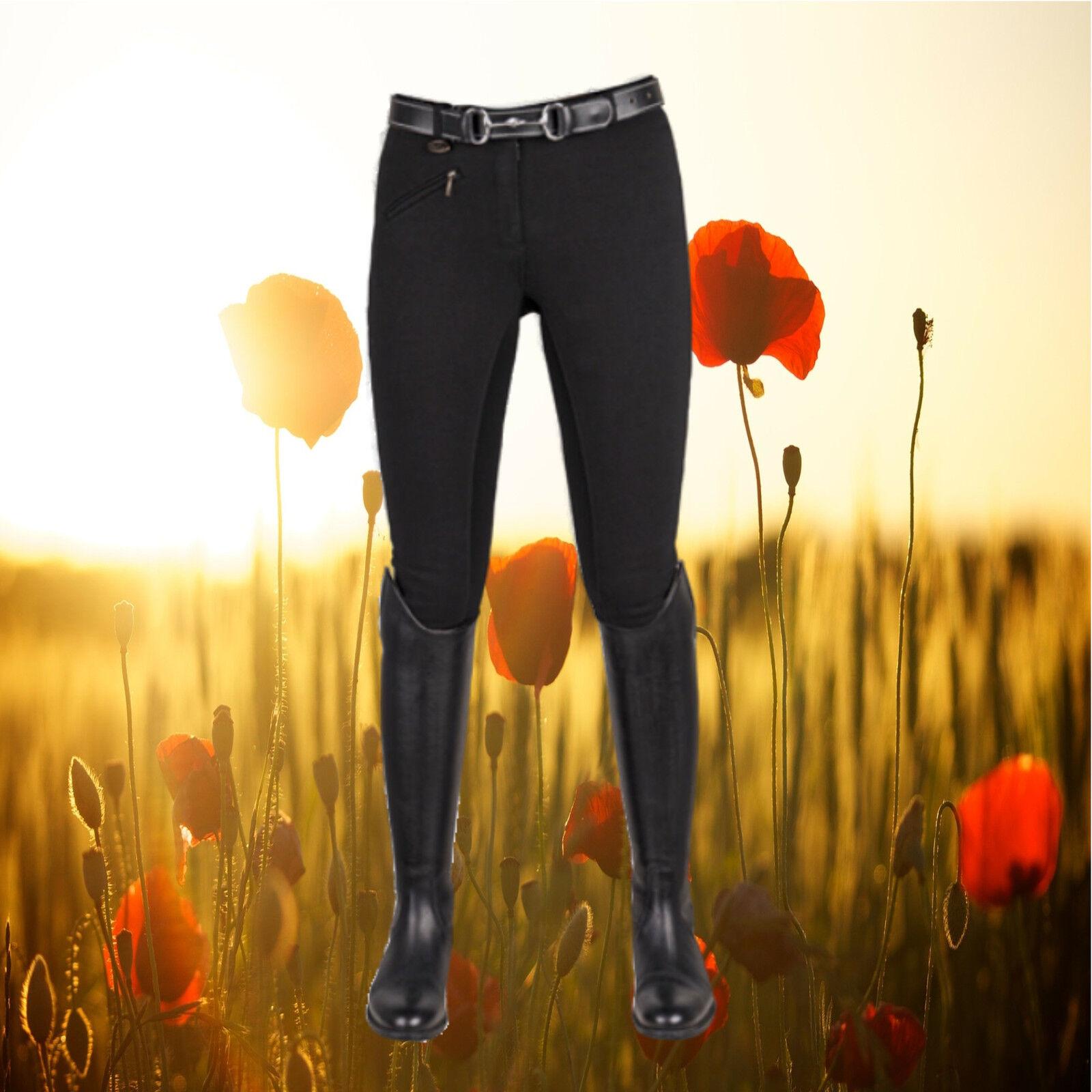 Reithose HKM, Basic Belmtex ,Vollbesatz Stiefelreithose HKM, schwarz  | Neue Sorten werden eingeführt  | Elegantes Aussehen  | Helle Farben