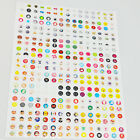 New 300Pcs Lovely Rubber Home Button Sticker for iPhone 5 5s 6 6plus iPad