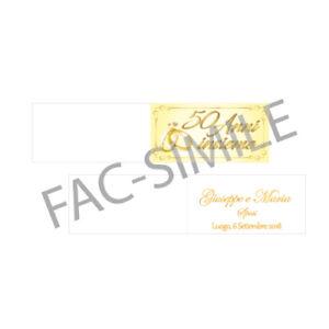 Bigliettini Matrimonio Bomboniere.Bigliettini Bomboniere 50 Anni Matrimonio Con O Senza Foro Grafica