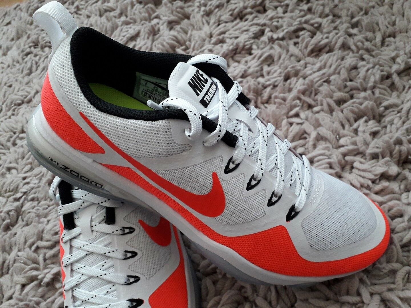 NIKE AIR ZOOM FITNESS NEW WOMENS LADIES TRAINERS SPORTS SHOES SIZE WHITE