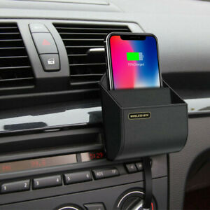 Car Accessories QI Wireless Bluetooth Charger Charging storage box