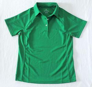 Lands-End-Womens-XS-2-4-Short-Sleeve-Green-Polo-Shirt-Moisture-Wicking-Golf-NWT