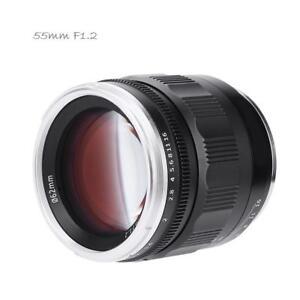 Kamlan-55mm-f1-2-Manual-Focus-Prime-Fixed-Lens-Obiettivo-Per-Nikon-F-mount