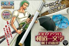 New One Piece Premium Collection Roronoa Zoro Samurai Katana Umbrella from Japan