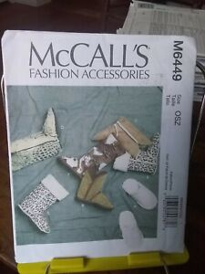 Oop-Mccalls-Fashion-6449-misses-slippers-booties-lined-sz-5-11-5-NEW
