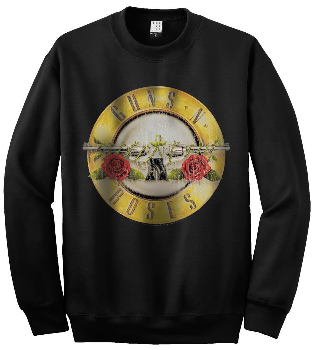 Amplified-Guns N rosas Drum Logo Uomo Pullover (nero) (S-XL) (S-XL) (S-XL) 3a450e