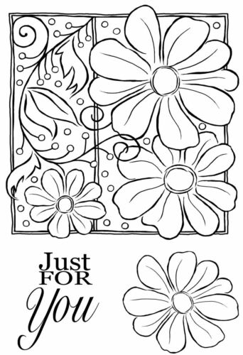 Petals and Twirls JGS632 Woodware Clear Magic Stamp Set