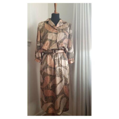 Vintage 1980's Metallic Paisley Dress