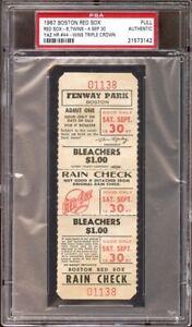 1967-Boston-Red-Sox-PSA-Full-Ticket-Sept-Carl-Yastrzemski-HR-Triple-Crown-MVP