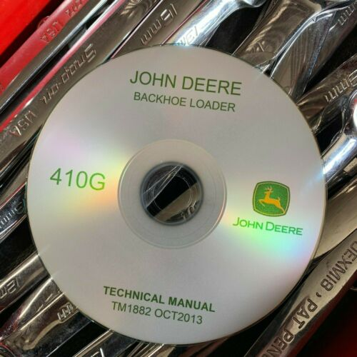 John Deere 410G Backhoe Loader Technical Service Repair Manual TM1882 CD