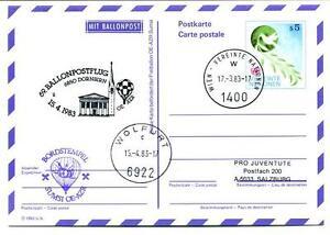 1983 Ballonpost N. 69 Pro Juventute Aerostato Oe-azr Sumsi Dornbirn Wolfurt Couleurs Harmonieuses