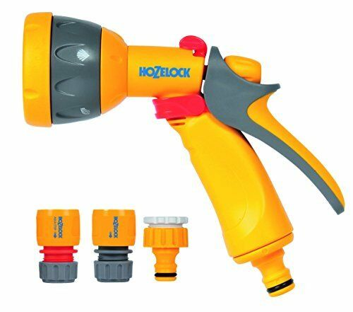 Hozelock multi spray gun pour robinet//tuyau raccords possède 5 utile spray patterns