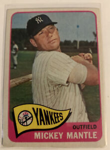 1965-Topps-Mickey-Mantle-New-York-Yankees-350-Baseball-Card-Hall-Of-Fame-RP