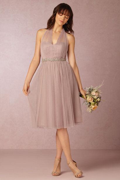 Anthropologie BHLDN Maia ConGrünible Dress Größe 8 M Jenny Yoo Rosa quartz