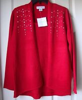 Brand Sag Harbor Embellished Metallic Scoopneck Sweaters Red-silver-gold