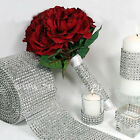 "1 Yard 4.6"" Diamond Mesh Crystal Rhinestone Wedding Wrap Roll Sparkle Ribbon Hot"