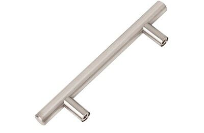 "Stainless Steel Kitchen silver Door Cabinet T Bar Handle Pull Knob 6"" ~ 10''"