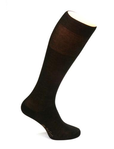 12 Coppie Uomo Nero al ginocchio calzini 100/% COTONE IN ELEGANTE SCATOLA REGALO