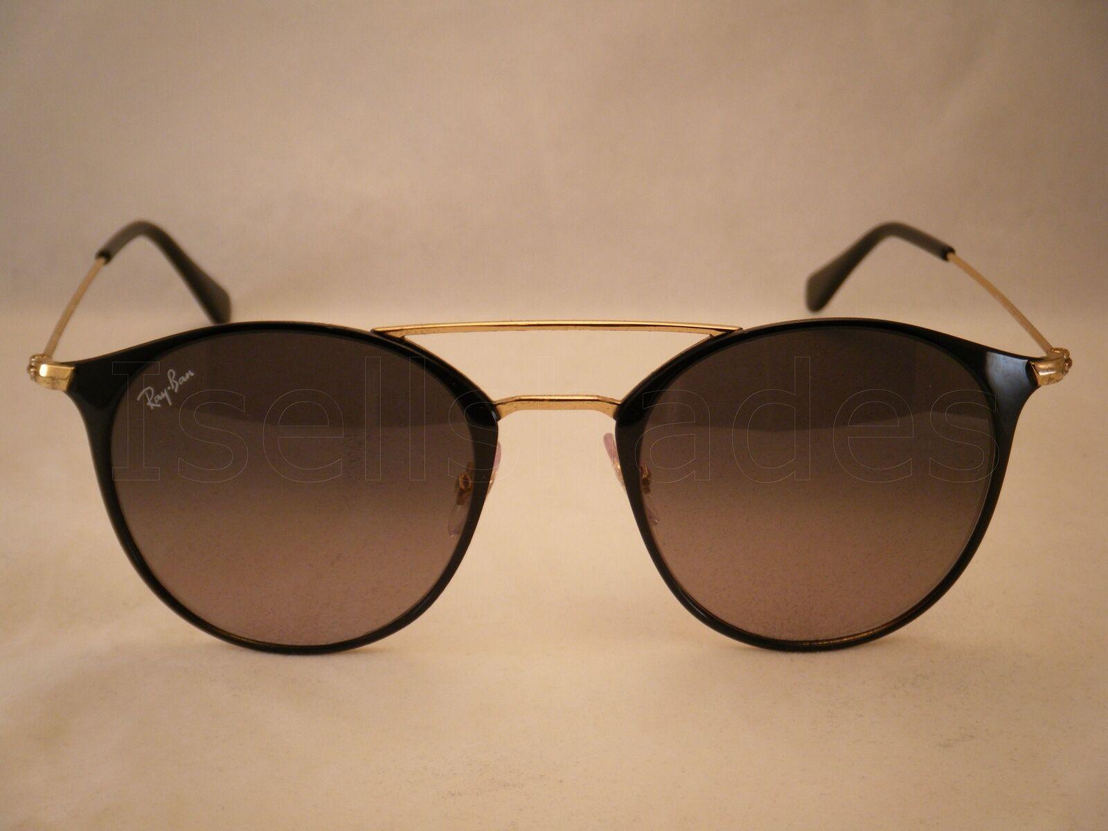 6aa489afc Ray-Ban Rb3546 187/71 Gold Black Frame Crystal Grey Shaded Lens ...