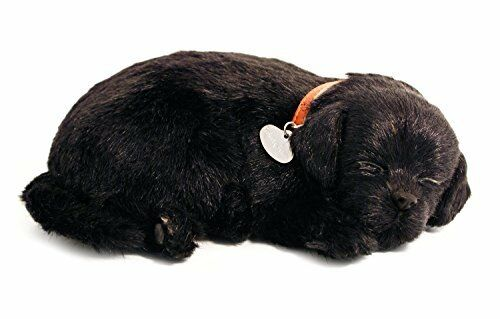 Perfect Petzzz Black Lab Breathing Puppy in Dog Bed