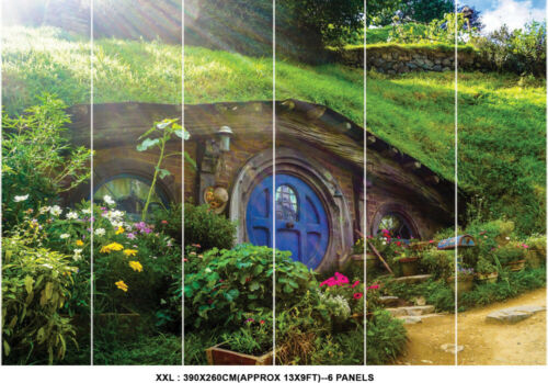Hobbit House Movie New Zealand Wallpaper Mural Photo Kids Poster DIY Decoration