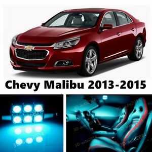15pcs Led Ice Blue Light Interior Package Kit For Chevy Malibu 2013 2016 Ebay