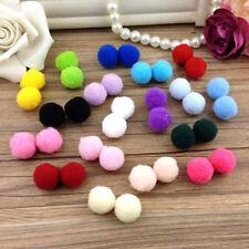 100Pcs Lots Mixed Plush Fluffy PomPoms Balls Pom Poms 1cm DIY Craft Decorations