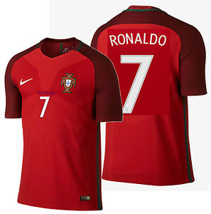nike ronaldo portugal vapor match authentic home jersey euro 2016 player version ebay. Black Bedroom Furniture Sets. Home Design Ideas